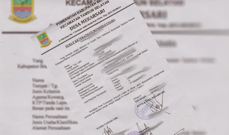 Surat Keterangan Domisili Usaha Skdu Kargokuid